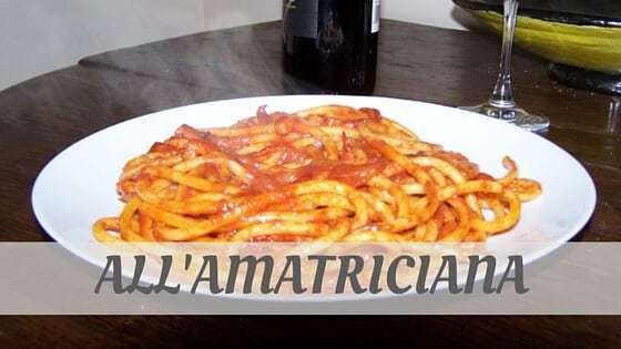 How To Say All'Amatriciana