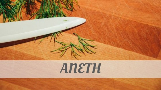 How Do You Pronounce Aneth?