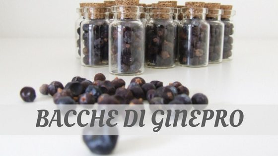 How To Say Bacche Di Ginepro