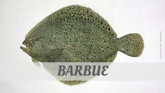 How To Say Barbue