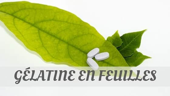 How Do You Pronounce Gélatine En Feuilles?