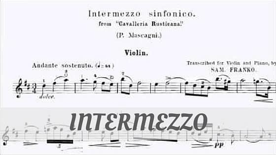 How To Say Intermezzo