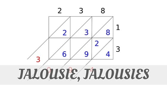 How To Say Jalousie, Jalousies?
