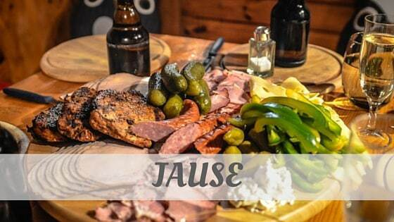 How To Say Jause