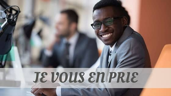 How To Say Je Vous En Prie