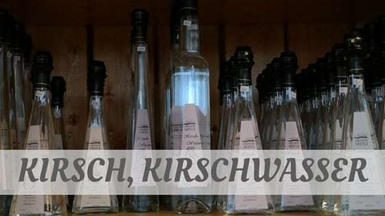 How To Say Kirsch