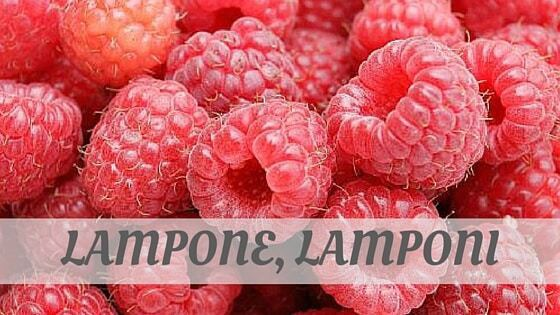How To Say Lampone