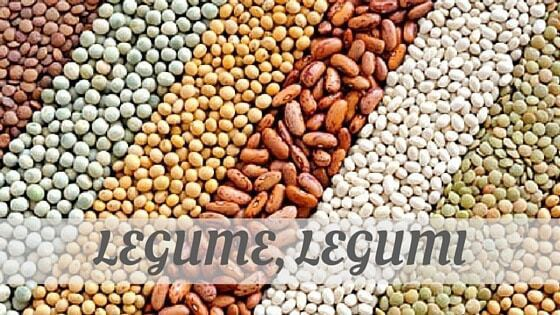 How To Say Legume