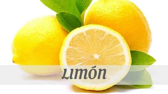 How To Say Limón