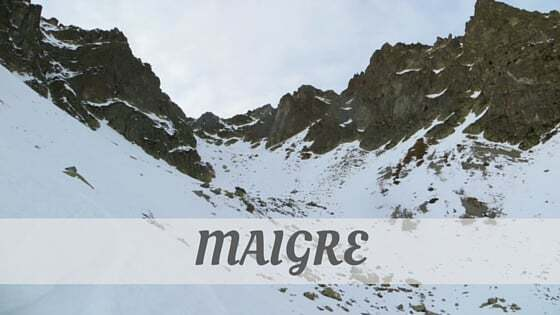 How To Say Maigre?