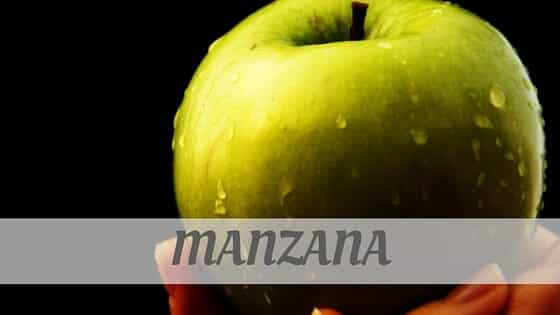 How To Say Manzana