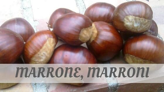 How To Say Marrone