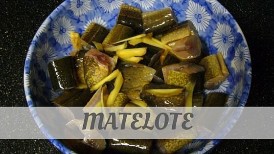 How To Say Matelote