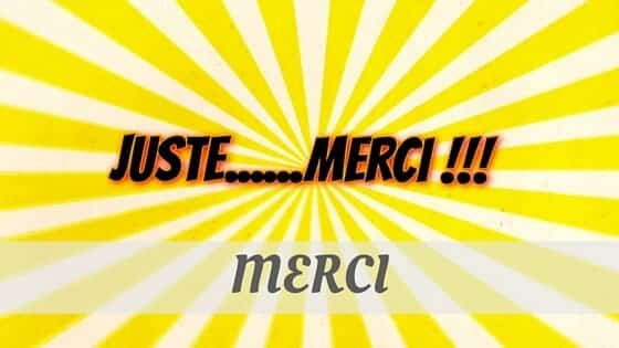 How To Say Merci