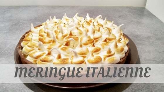 How To Say Meringue Italienne?