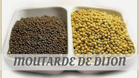 How To Say Moutarde De Dijon?