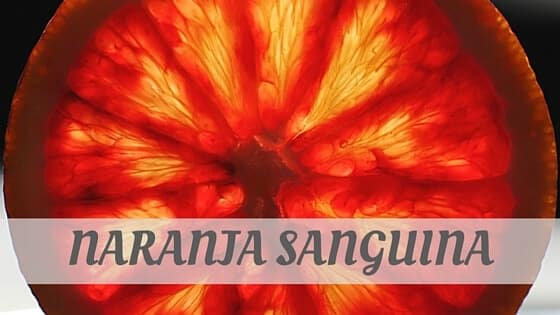 How To Say Naranja Sanguina