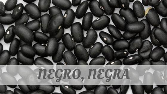 How To Say Negro