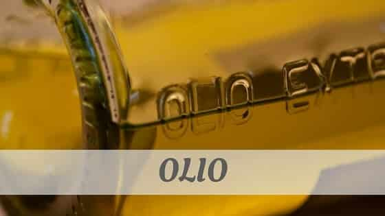 How To Say Olio