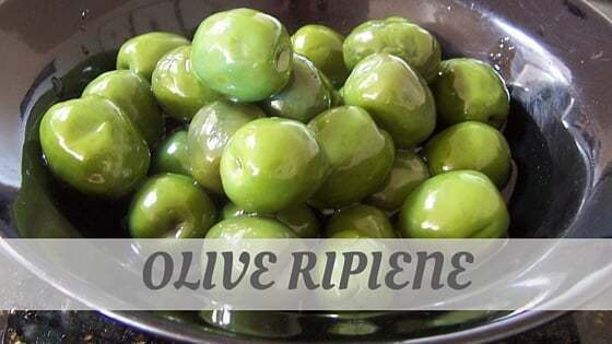 How To Say Olive Ripiene