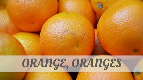 How To Say Orange
