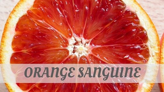 How To Say Orange Sanguine