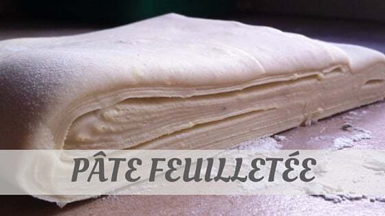 How To Say Pâte Feuilletée