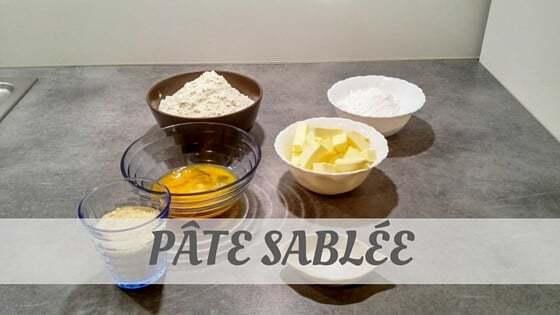How To Say Pâte Sablée
