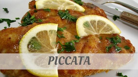 How To Say Piccata?