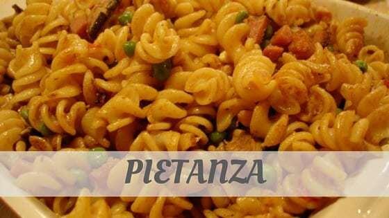 How To Say Pietanza