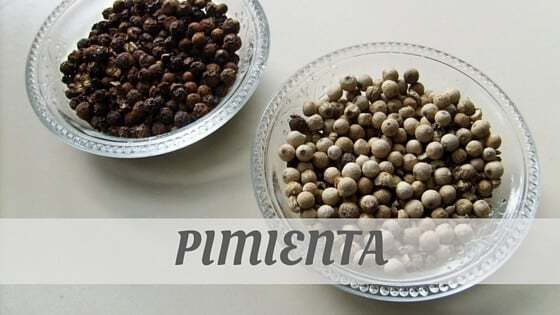 How To Say Pimienta?