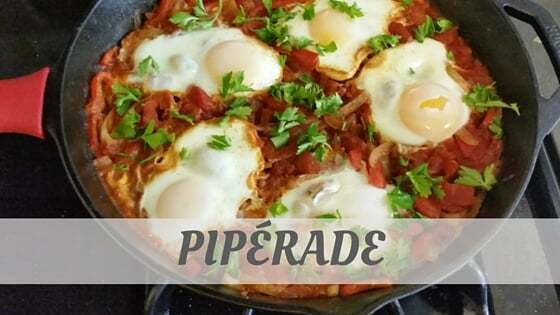 How To Say Pipérade?
