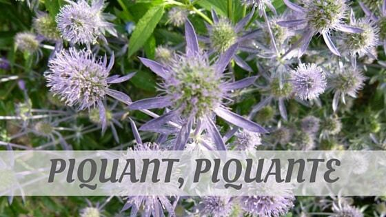 How Do You Pronounce Piquant, Piquante?