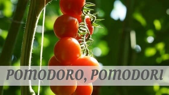 How To Say Pomodoro, Pomodori?