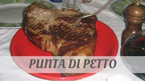 How Do You Pronounce How To Say Punta Di Petto?