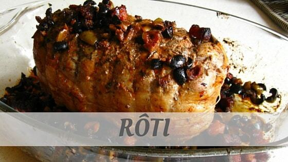 How To Say Roti