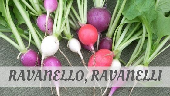 How Do You Pronounce Ravanello, Ravanelli?