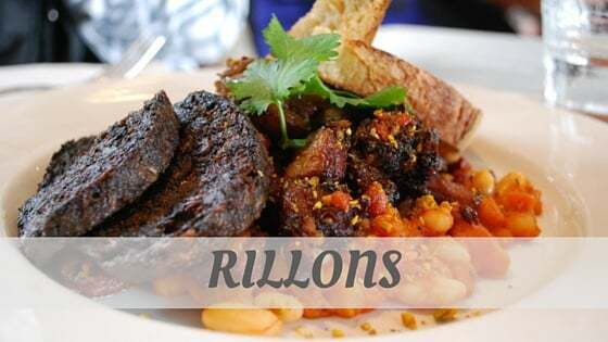 How To Say Rillons