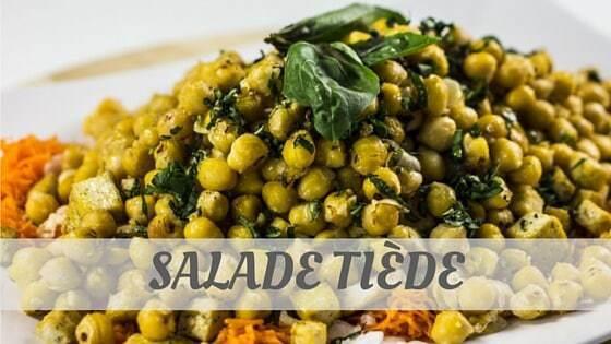 How To Say Salade Tiède