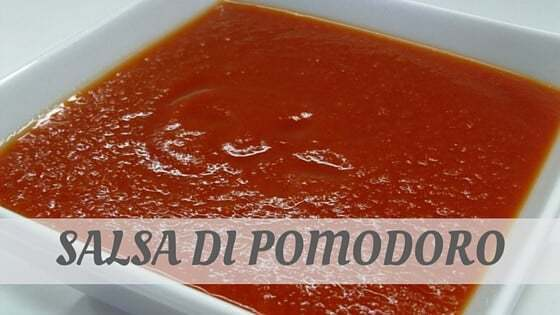 How To Say Salsa Di Pomodoro
