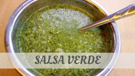 How To Say Salsa Verde