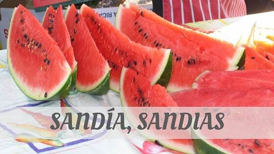 How To Say Sandía
