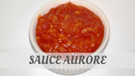 How To Say Sauce Aurore?