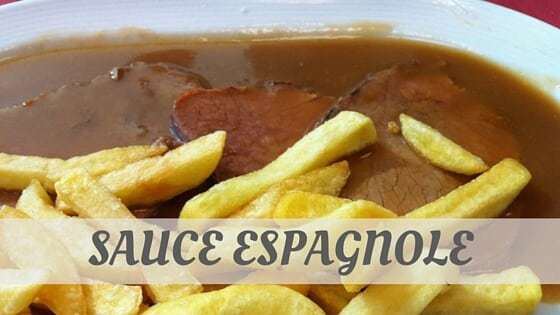 How To Say Sauce Espagnole