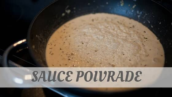 How To Say Sauce Poivrade