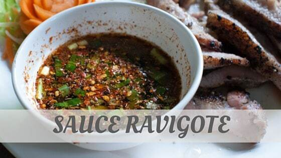 How To Say Sauce Ravigote