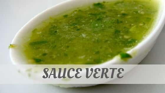 Sauce Verte Pronunciation