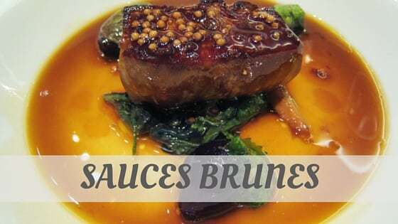 How To Say Sauces Brunes?