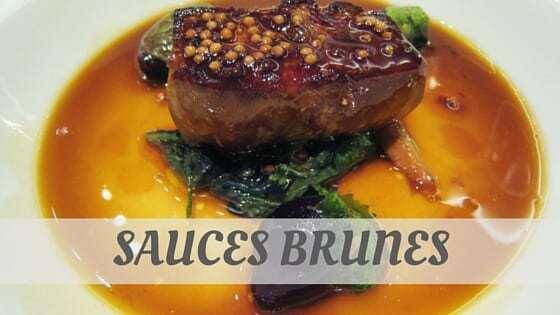 Sauces Brunes