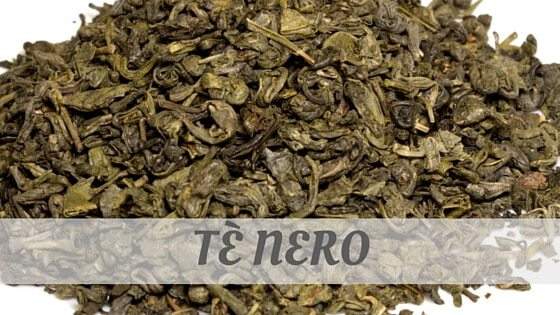 How Do You Pronounce Tè Nero?